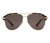 Pilotensonnenbrille mit spezieller Passform aus Metall