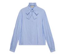Hemd aus Baumwolle mit GucciNadelstreifen