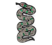 *Brosche mit Schlangen-Stickerei