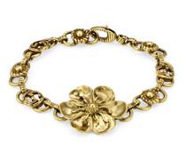Armband aus Metall mit Blumen-Detail
