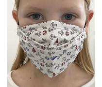 Mund-Nasen-Maske mit Filtertasche für Kinder