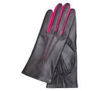 Iris Rainbow - Nappa, fleece - Black / Hot Pink