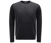 Cashmere R-Neck Pullover anthrazit