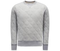 Sweatshirt mit Rundhals 'Aamerican' hellgrau