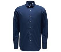Casual Hemd 'Leonardo Gaeta' Button-Down-Kragen navy