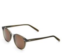 Sonnenbrille oliv/braun