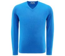 Cashmere V-Neck Pullover 'Soffio' blau