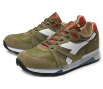 Sneaker 'N9000 ITA' oliv/hellrot