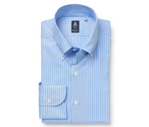 Oxford-Hemd 'Lucio Napoli' Button-Down-Kragen hellblau