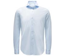 Jersey-Hemd 'Sergio Toronto' Haifisch-Kragen pastellblau
