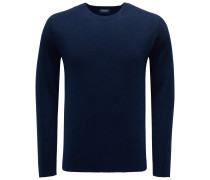 Frottee R-Neck Pullover navy