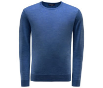 Merino R-Neck Pullover dunkelblau