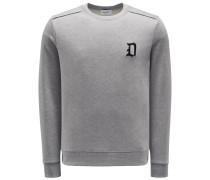 Sweatshirt mit Rundhals grau