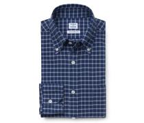 Casual Hemd Button-Down-Kragen dunkelblau