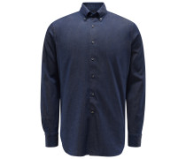 Chambray-Hemd Button-Down-Kragen navy