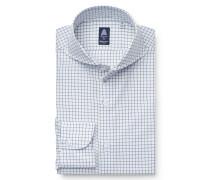 Business Hemd 'Sergio Napoli' Haifisch-Kragen weiß/blau/grün
