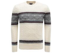 R-Neck Pullover creme/schwarz