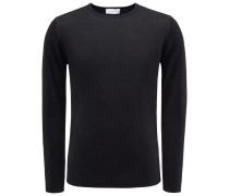 R-Neck Pullover 'Len' schwarz