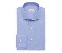 Business Hemd Haifisch-Kragen dunkelblau/weiß