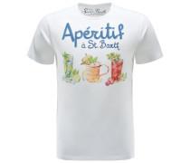 R-Neck T-Shirt 'Aperitif Drinks' weiß