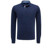 Longsleeve-Poloshirt navy