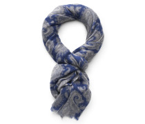 Cashmere Schal dunkelblau/grau