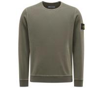 Sweatshirt mit Rundhals graugrün
