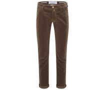 Fustagno-Hose 'J613 Comfort Slim Fit' braun