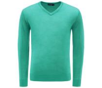 Merino V-Neck Pullover grün