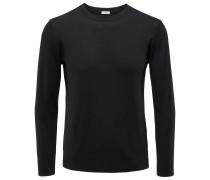 Merino R-Neck Pullover schwarz