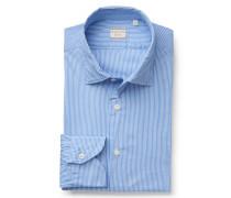 Casual Hemd 'Tailor Fit' schmaler Kragen azurblau