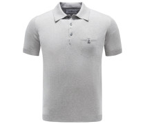Strick-Poloshirt grau