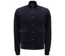 Velourslederblouson 'Stephane' navy