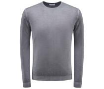 R-Neck Pullover grau