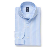 Oxford-Hemd 'Sergio Gaeta' Haifisch-Kragen pastellblau