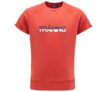 R-Neck Kurzarm-Sweatshirt 'Träning' rot