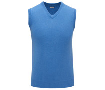 Cashmere V-Neck Pullunder blau