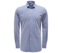Casual Hemd 'Tailor Active Shirt' Haifisch-Kragen navy/weiß