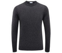 Cashmere R-Neck Pullover anthrazit