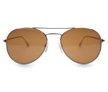 Sonnenbrille 'Ace' gold/braun
