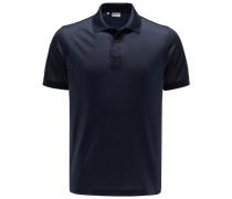Seiden-Poloshirt navy