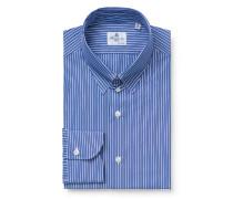 Business Hemd 'Augusto Milano' Tab-Kragen blau
