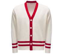 Cardigan 'Aanfitrione' rot/offwhite