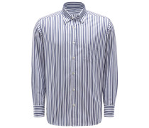 Casual Hemd Button-Down-Kragen navy/weiß