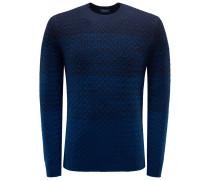 R-Neck Pullover dunkelblau