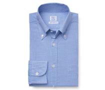 Casual Hemd Button-Down-Kragen blau