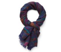 Schal violett/rostrot