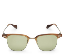 Sonnenbrille 'Executive I' hellbraun/grün