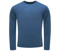 Cashmere R-Neck Pullover blau