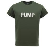 R-Neck Kurzarm-Sweatshirt 'Pump' dunkelgrün